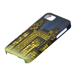 デジタル都市の明るい夜ライト iPhone SE/5/5s ケース