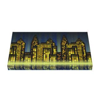 デジタル都市抽象美術の質 キャンバスプリント