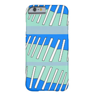 デジタル青いステッチ BARELY THERE iPhone 6 ケース