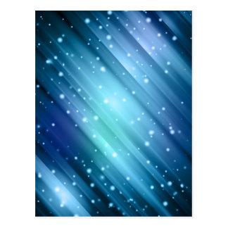 デジタル青い背景 ポストカード