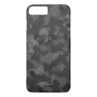 デジタル黒い迷彩柄 iPhone 8 PLUS/7 PLUSケース
