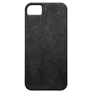 デジタル黒い革 iPhone SE/5/5s ケース