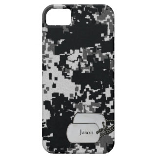 デジタル黒く及び白いカムフラージュ iPhone SE/5/5s ケース