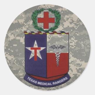 デジタル、青いテキサス州の医学のレーンジャー ラウンドシール