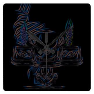 デジタルCandelabraの正方形の時計 スクエア壁時計