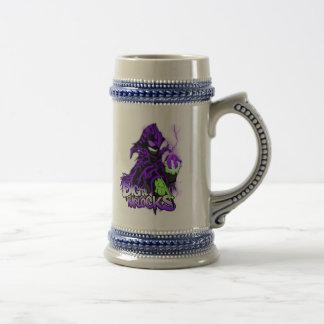 デジタルWarlocksの紫色のWarlock -カスタムなステイン ビールジョッキ