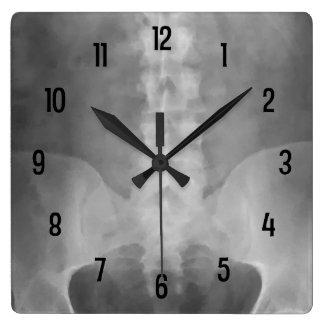 デジタルX線の芸術の柱時計 スクエア壁時計