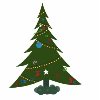 デスクトップのクリスマスツリーのフォトスカルプチャー 写真彫刻(台付き)