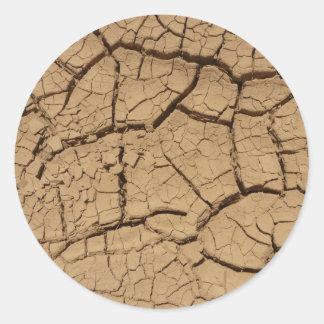 デスヴァレーの乾燥した地面 ラウンドシール