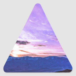 デスヴァレーの日没 三角形シール