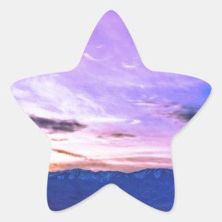 デスヴァレーの日没 星シール
