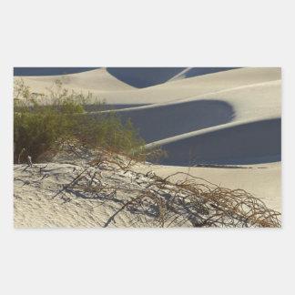 デスヴァレーの砂漠 長方形シール