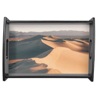 デスヴァレーのMesquiteの砂丘 トレー