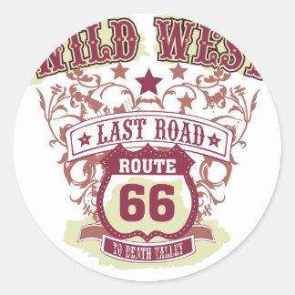 デスヴァレーへの野生の西の最後の道のルート66 ラウンドシール