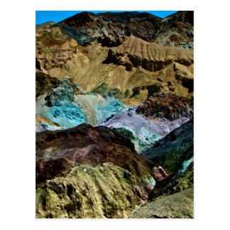 デスヴァレー、カリフォルニアの芸術家のパレット ポストカード