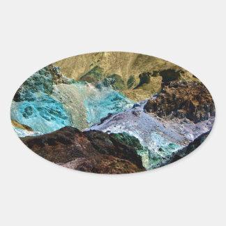 デスヴァレー、カリフォルニアの芸術家のパレット 楕円形シール
