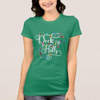 デッキはホール休日クリスマスをつけます Tシャツ
