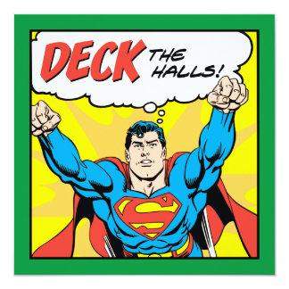 デッキスーパーマンが付いているホール 13.3 スクエアインビテーションカード