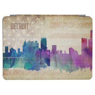 デトロイトのMI |の水彩画都市スカイライン iPad AIR カバー