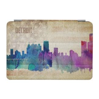 デトロイトのMI |の水彩画都市スカイライン iPad MINIカバー