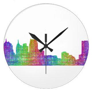 デトロイトスカイライン ラージ壁時計