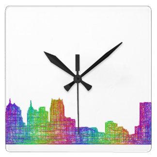 デトロイトスカイライン 壁時計