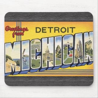 デトロイトミシガン州のヴィンテージからの挨拶 マウスパッド