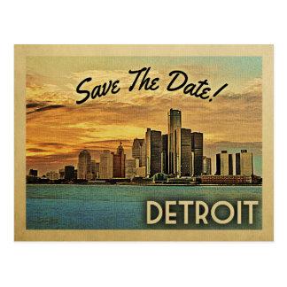 デトロイト保存日付ミシガン州 ポストカード