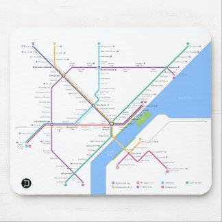 デトロイト地下鉄のマウスパッド マウスパッド