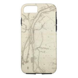 デトロイト川の地図 iPhone 8/7ケース