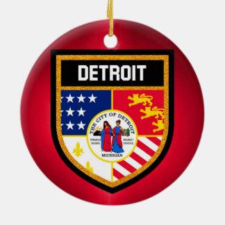 デトロイト旗 セラミックオーナメント