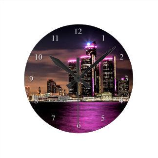 デトロイト柱時計 ラウンド壁時計