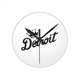 デトロイト王冠 ラウンド壁時計
