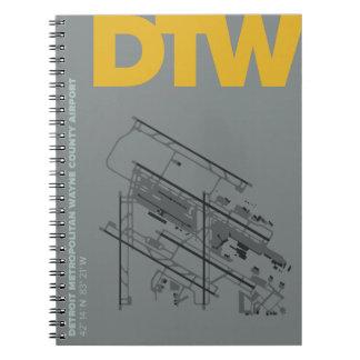 デトロイト空港(DTW)空港図表のノート スプリングノート