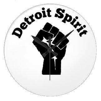 デトロイト精神の時計 ラージ壁時計