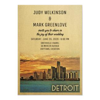デトロイト結婚式招待状ミシガン州 カード
