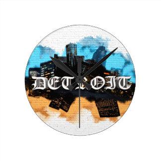 デトロイト落書き 時計