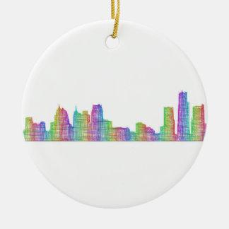 デトロイト都市スカイライン セラミックオーナメント