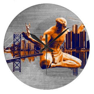 デトロイト都市 壁時計