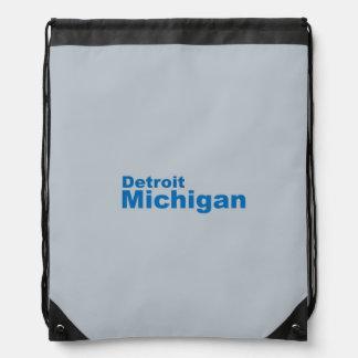 デトロイト、ミシガン州ドローストリングのバックパック ナップサック