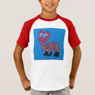 デニスの子供のオーガスタのレトロのストライプのな袖のTシャツ Tシャツ