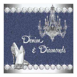 デニムおよびダイヤモンドの誕生会 カード