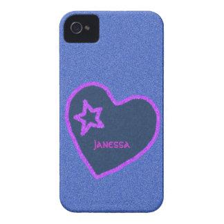 デニムおよびハートのiPhoneの場合 Case-Mate iPhone 4 ケース
