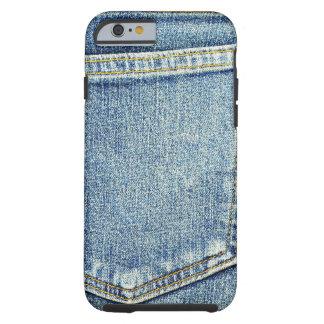 デニムのジーンズのポケット青い生地のスタイルのファッションの金持ち ケース