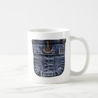 デニムのジーンズのポケット コーヒーマグカップ
