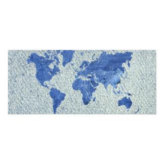 デニムの世界地図 カード