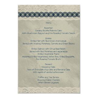 デニムの結婚式メニューII 8.9 X 12.7 インビテーションカード