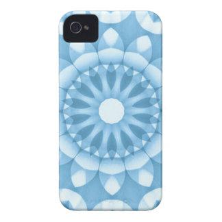 デニムの花の万華鏡のように千変万化するパターン Case-Mate iPhone 4 ケース