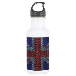 デニムの質パターン英国国旗イギリス(イギリス)の旗 ウォーターボトル