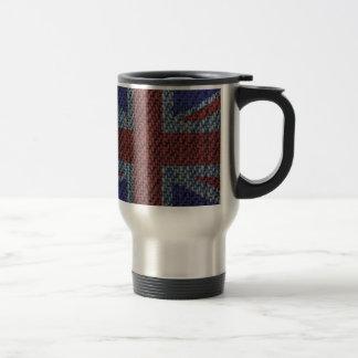 デニムの質パターン英国国旗イギリス(イギリス)の旗 トラベルマグ